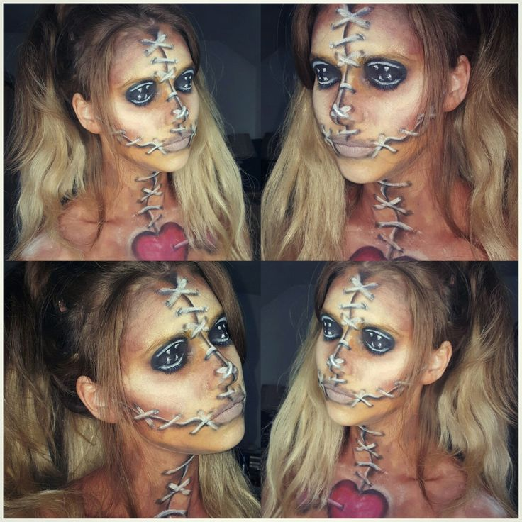 25 best ideas about voodoo doll makeup on pinterest voodoo halloween makeup scary doll. Black Bedroom Furniture Sets. Home Design Ideas