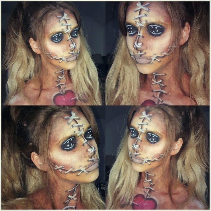 Voodoo doll makeup #diamondfxfacepaint #snazaroo #makeupbycherece