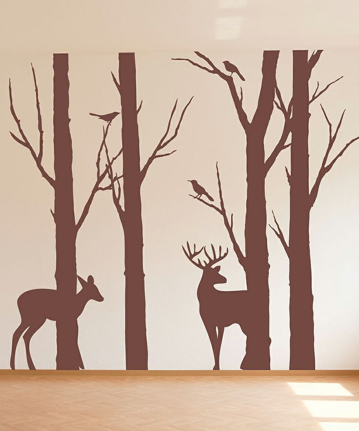 Sissy little brown deer in the forest wall decal wall for Deer wall decals