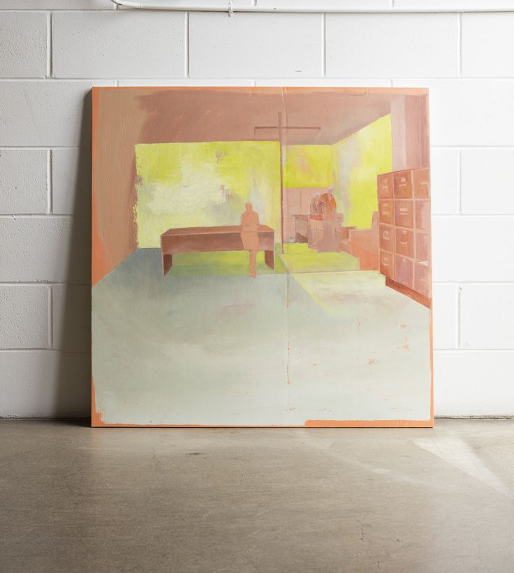 Kate Small, Lunch Time, 2015, Oil on plywood, 1000 x 1000mm
