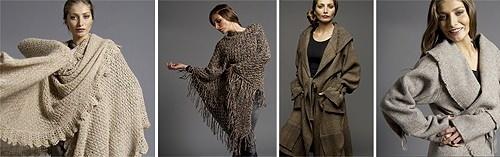 Amaru:  tejidos hechos con lana de alpaca y llama.