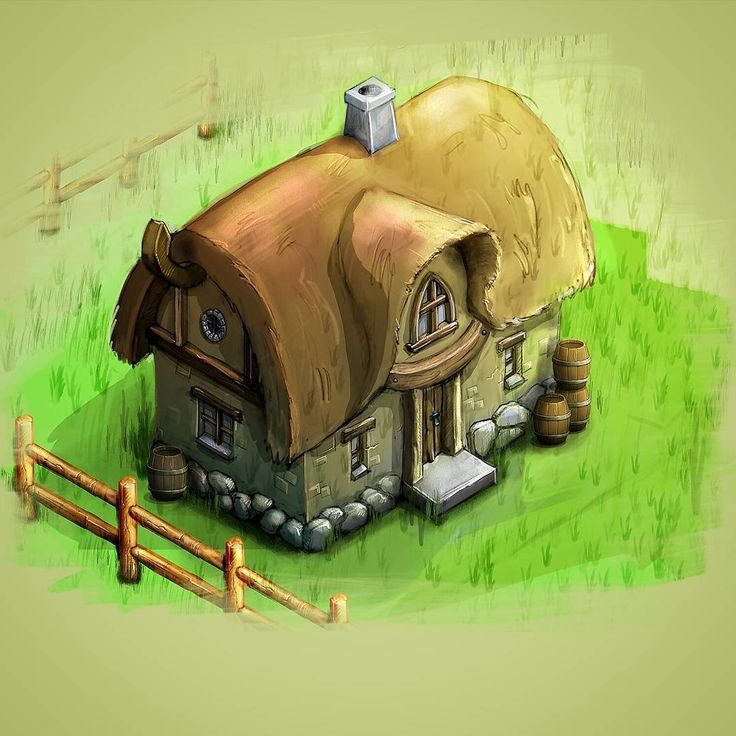 A cute cottage! I love medieval themes :) #artoftheday #art #artwork #buildings #illustration #photoshop #cottage #medieval #drawing #gameart #2D