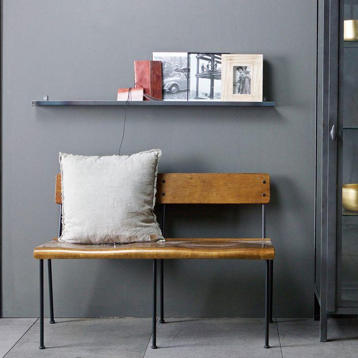 Vintage 2 Sitzer Bank Doppelstuhl Holz Metall Auswahl: 1 X Vintage 2 Sitzer  Bank Doppelstuhl