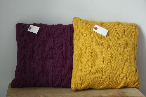 Coussin tricot adorable
