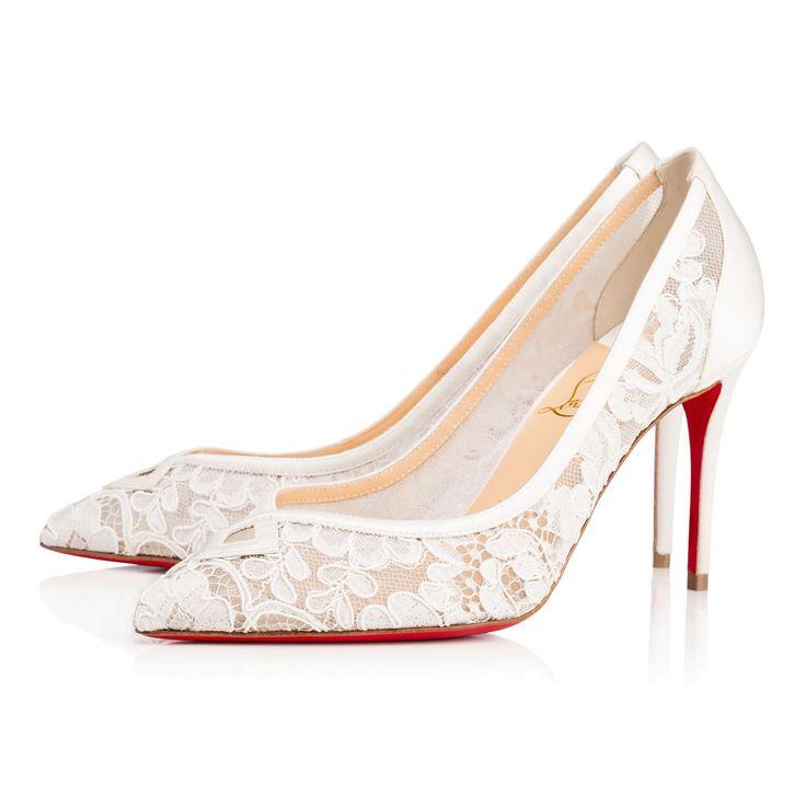 Shoes - Neoalto Dentelle Mariee/crepe Satin - Christian Louboutin