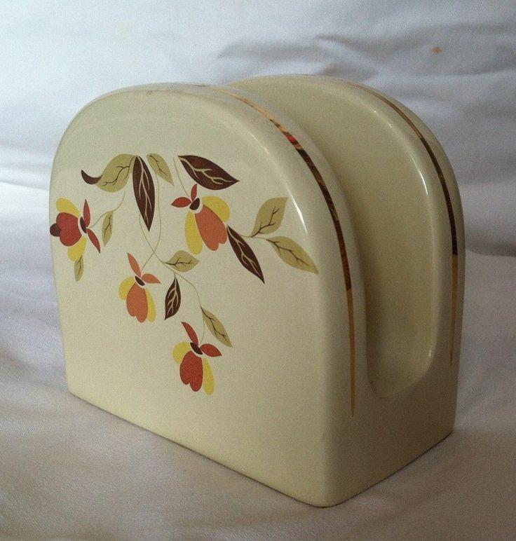 Jewel Tea Hall Autumn Leaf Pattern Napkin Holder