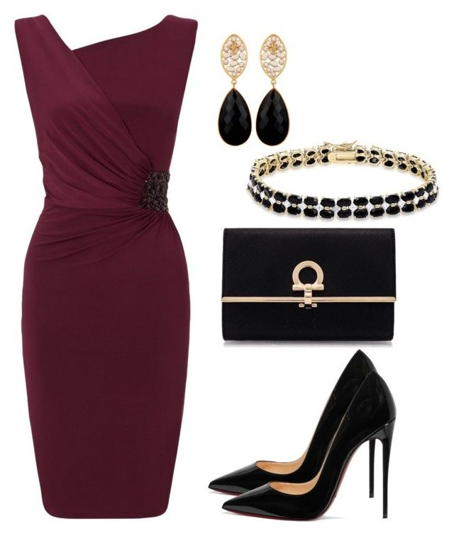 """Wine Night"" by taniaisabel-1 on Polyvore featuring Ariella, Christian Louboutin, Salvatore Ferragamo, Dolce Giavonna and Carousel Jewels"