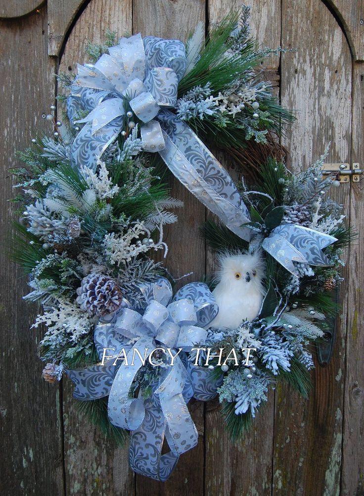 Owl Wreaths Xmas Wreaths Winter Wreaths Floral