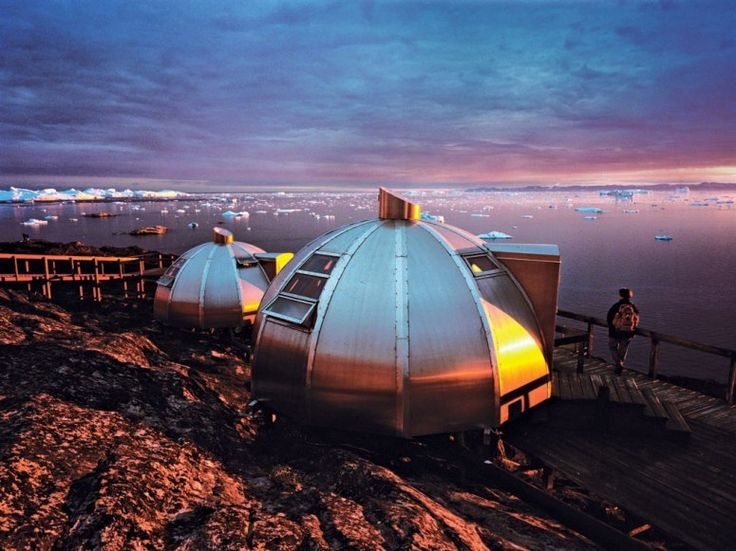 Igloo Rooms at Greenland's Hotel Arctic