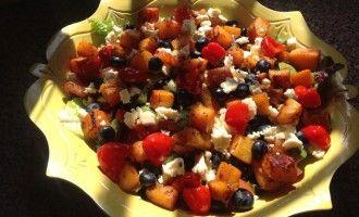 Butternut & blueberry salad