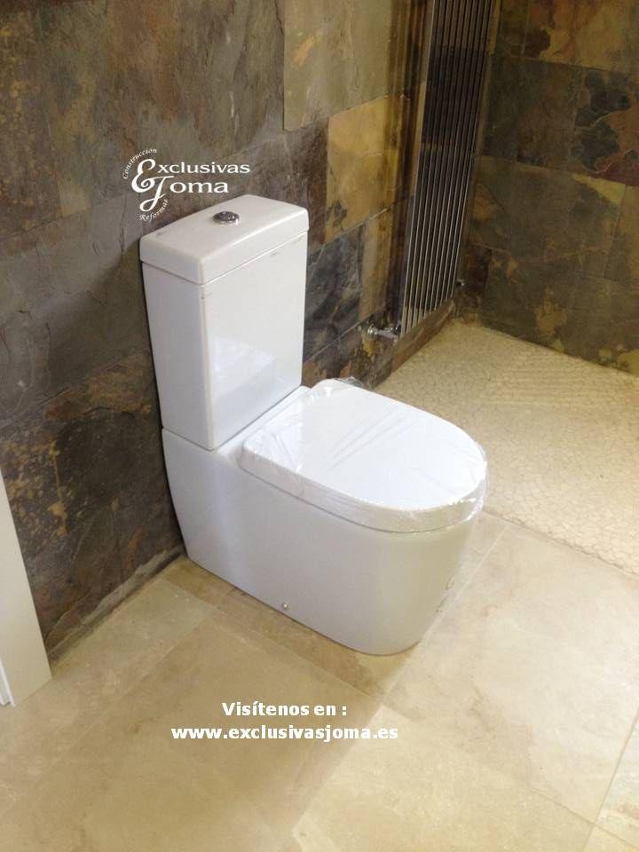 reforma integral de bao con cermica imitacin piedra plato de ducha de gresite piedra blanca