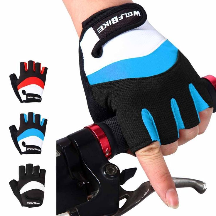 Fit Accessory Wolfbike Cycling Half Finger Gloves Anti-slip Breathable Men Women Unisex Bicycle Hand Protect Equipment Ciclismo Cycling Gloves ** More info could be found at the image url.