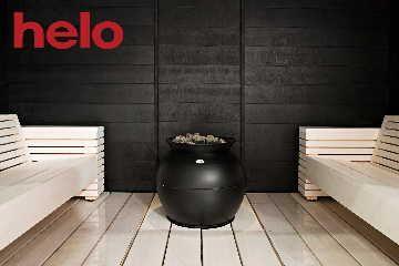 Lauteiden uusi malli modernissa saunassa.