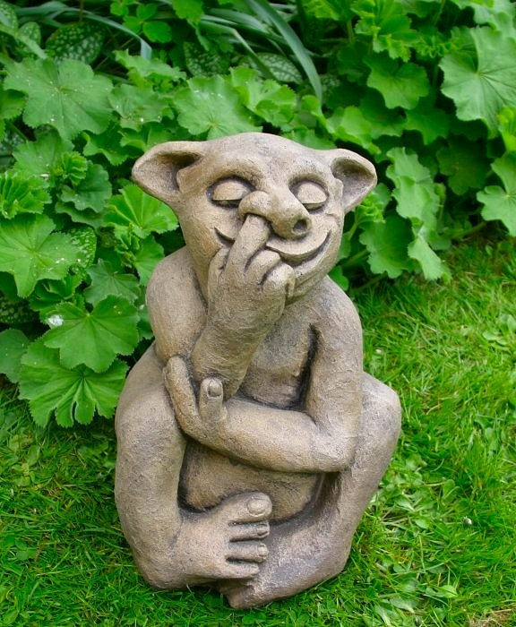 Large Garden Troll Statue Ornament. Fairy GardeningFairies  GardenTrollSecret GardensOutdoor IdeasUnusual ...