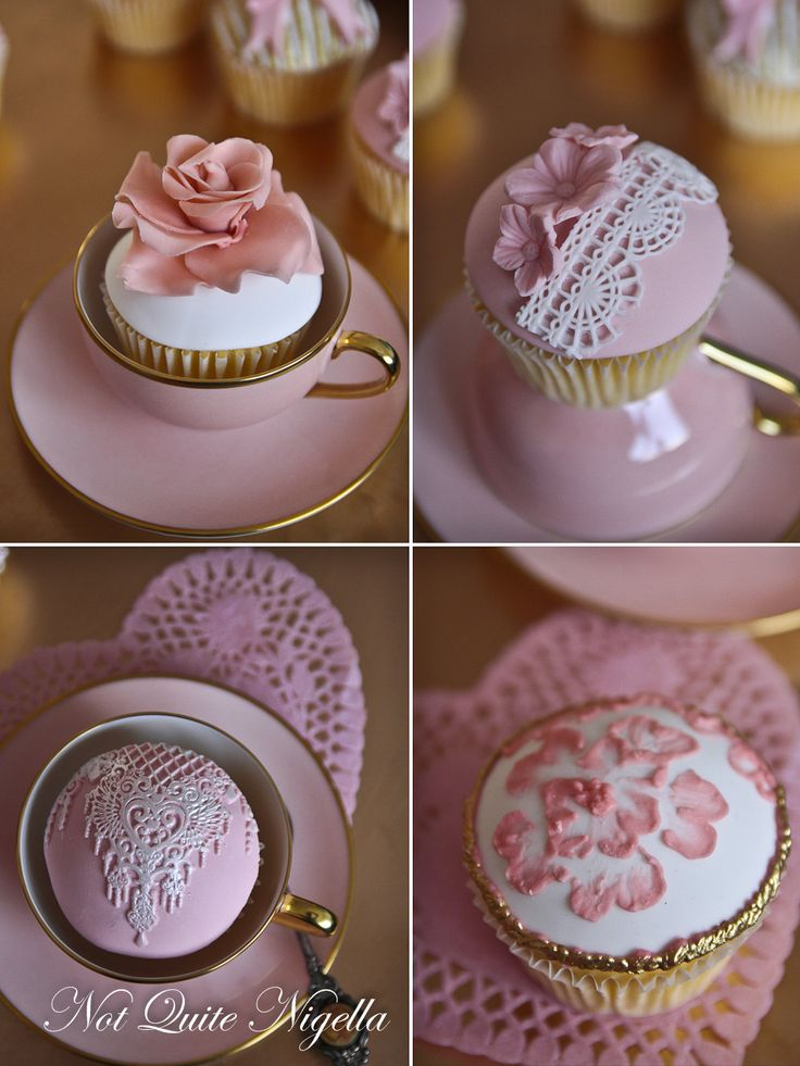 Pretty Vintage Cupcakes for Mother's Day!