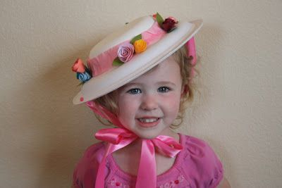 DIY Easter bonnet.   The High Flying Adventures of Gramma Luvlee: In my Easter Bonnet