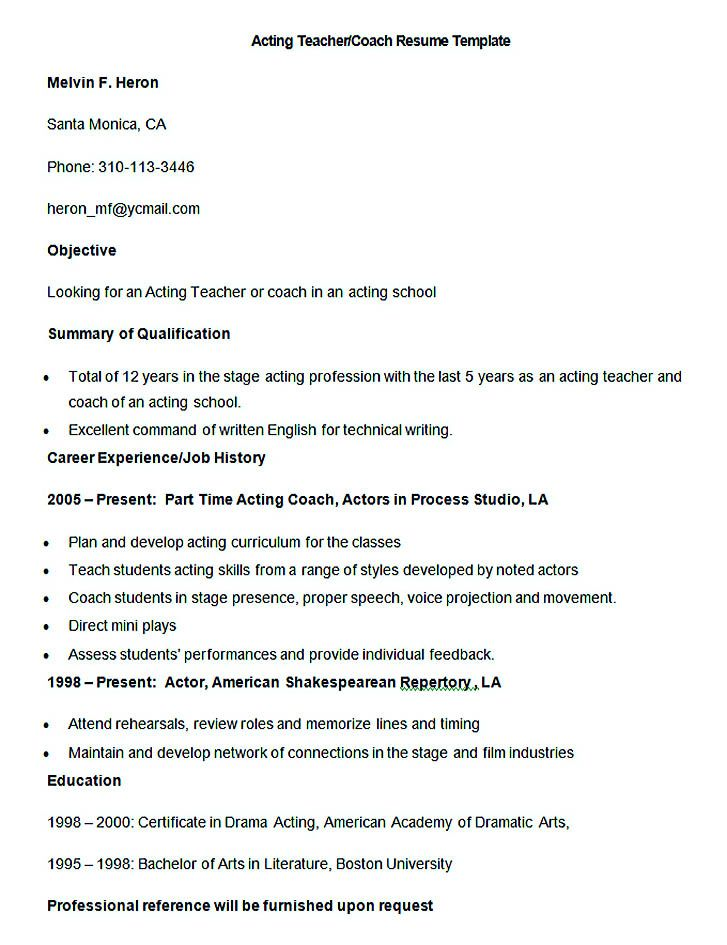 Format Of Making Resume. Teachers Resume Free Examples Our #1 Top