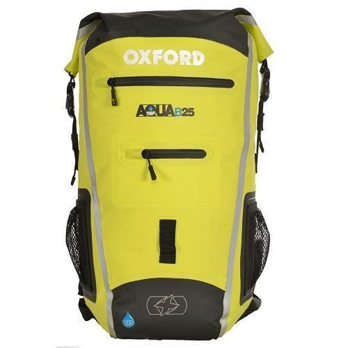 Oxford-Aqua-B25-Waterproof-Motorcycle-Scooter-Backpack-Rucksack-Yellow-25L-HiVis