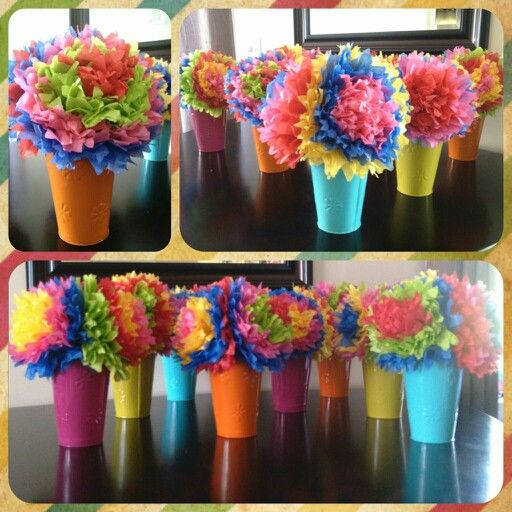 Cinco De Mayo Centerpieces Mexican Tissue Paper Flowers Party Crafts In 2018 And Fiesta