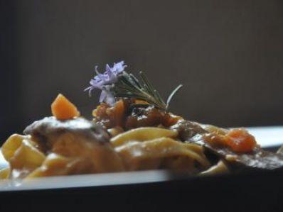 Receta | Tallarines con salsa de boniato y ceps - canalcocina.es