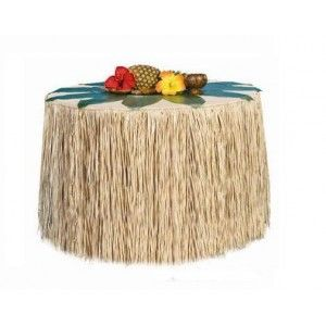Décoration Hawaï tour de table hawaien (jupe hawaienne) raphia naturel de 2.75 M x 70 cm, déco hawai, fêtes http://www.baiskadreams.com/2180-decoration-hawai-tour-de-table-raphia-naturel-275x70cm.html