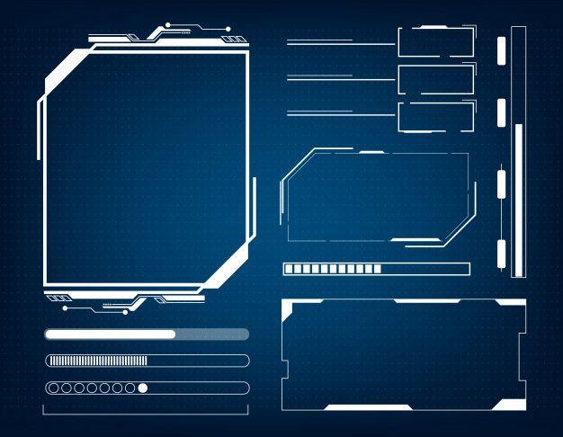 Abstract Technology Futuristic Interface Hud Concept Kartu Nama Desain Teknologi