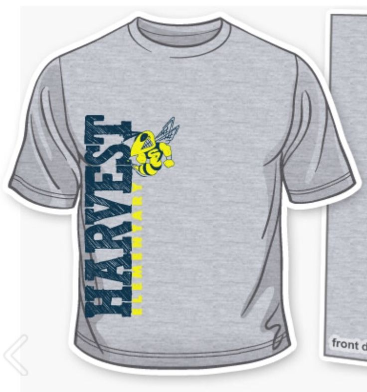 blue and gold print on gray t - School T Shirt Design Ideas