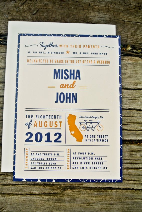 Infographic style modern wedding invitation