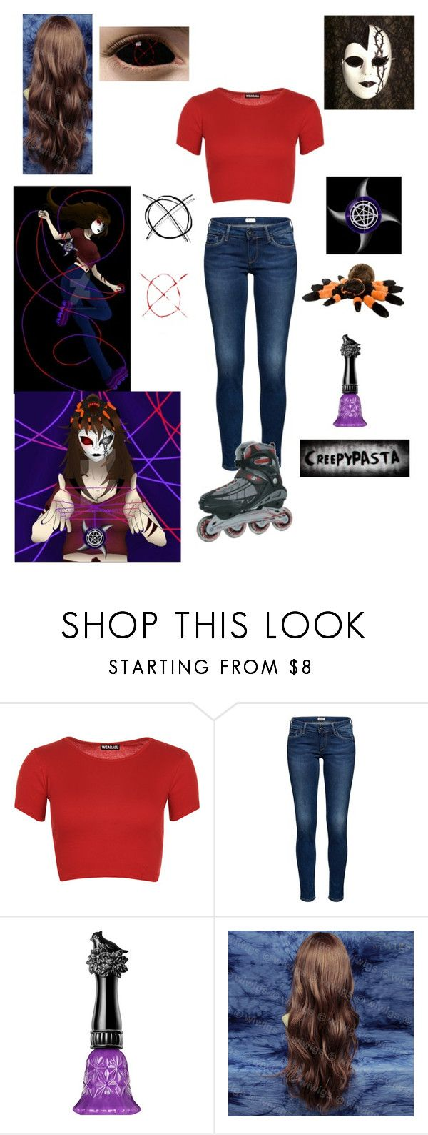"""Creepypasta Nemesis Outfit"" by ender1027 ❤ liked on Polyvore featuring WearAll and Anna Sui"