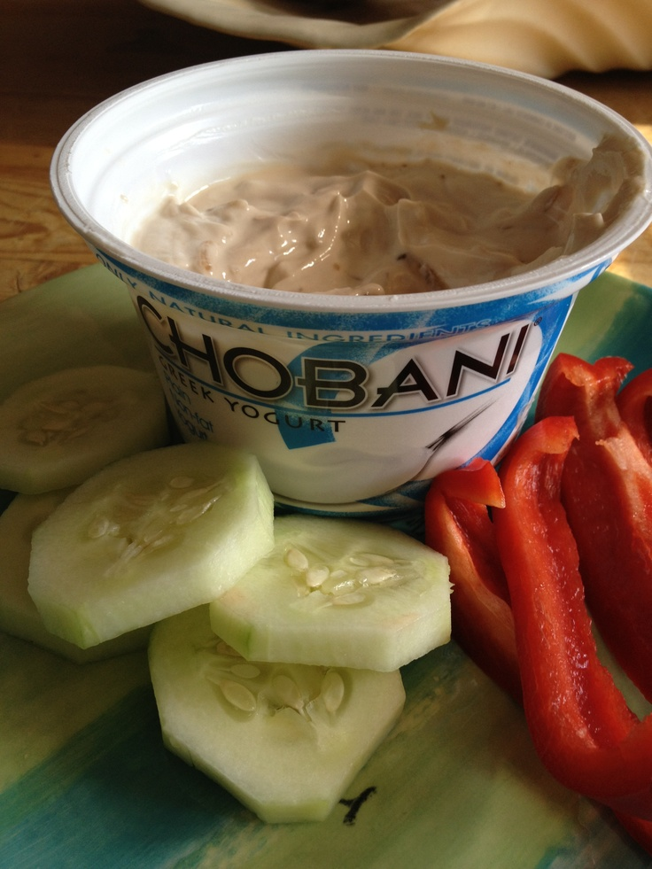 Take a pack of Lipton Onion and mix it with fat-free Chobani, Fage, or any Greek Yogurt. Makes an absolutely delicious veggie dip and it's loaded with protein.