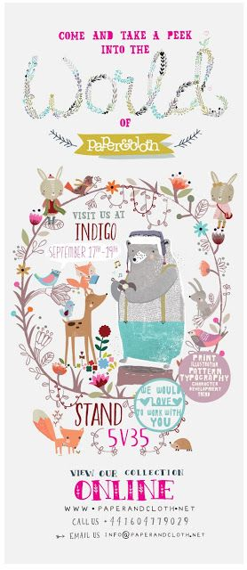 indigo poster 2013 by paperandcloth