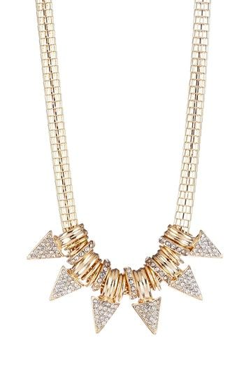 Decorative Spike Statement Necklace on HauteLook