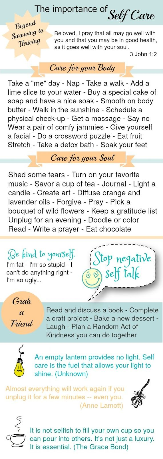 Self-care is never a selfish act – it is simply good stewardship of the only gift I have, the gift I was put on earth to offer to others. ...