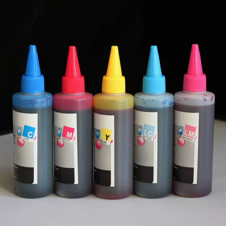 5 Color Refill Bulk Ink for printers that use Epson  #78 #79 & #98 ink (500ml)