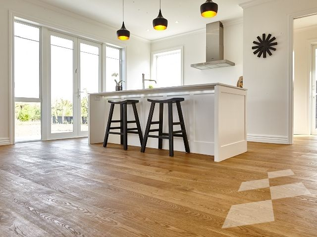 Honey coloured Oak floor (Custom) - Karaka residence - Designer Flooring | French Oak | Real Wood Floors | Imitation Wood Floors | Solid Wood Flooring