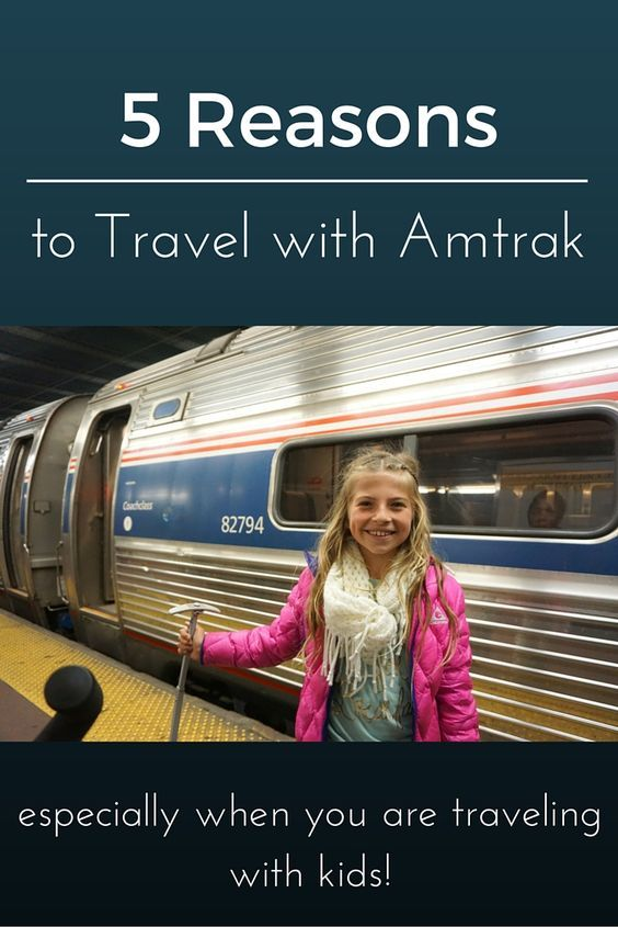 Traveling with kids isn't easy so why not find the methods of travel that kids enjoy most. From what I have found from traveling with my 5 kids around the world is NOTHING BEATS A TRAIN!  Read on to see my 5 Reasons Families Should Travel with Amtrak