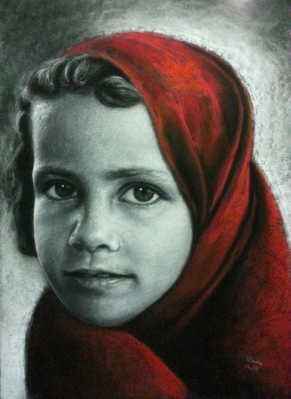 Diversidad 3 22 x 30 in Pastel on Canson board