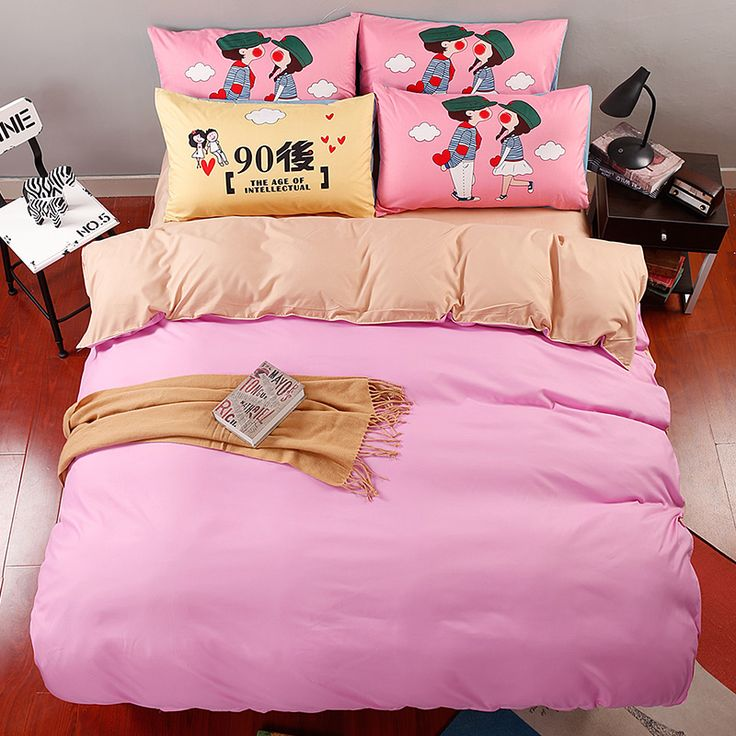 home d cor diy Double Solid color Printing Bedding Set 4ps Queen King Size  Polyester. 415 best Bedding sets images on Pinterest   Bedding sets  Home