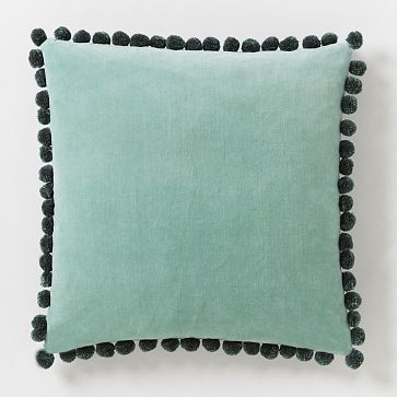 Jay Street Ashti Pillow Cover - Light Pool #westelm | I see DIY possibilities here...