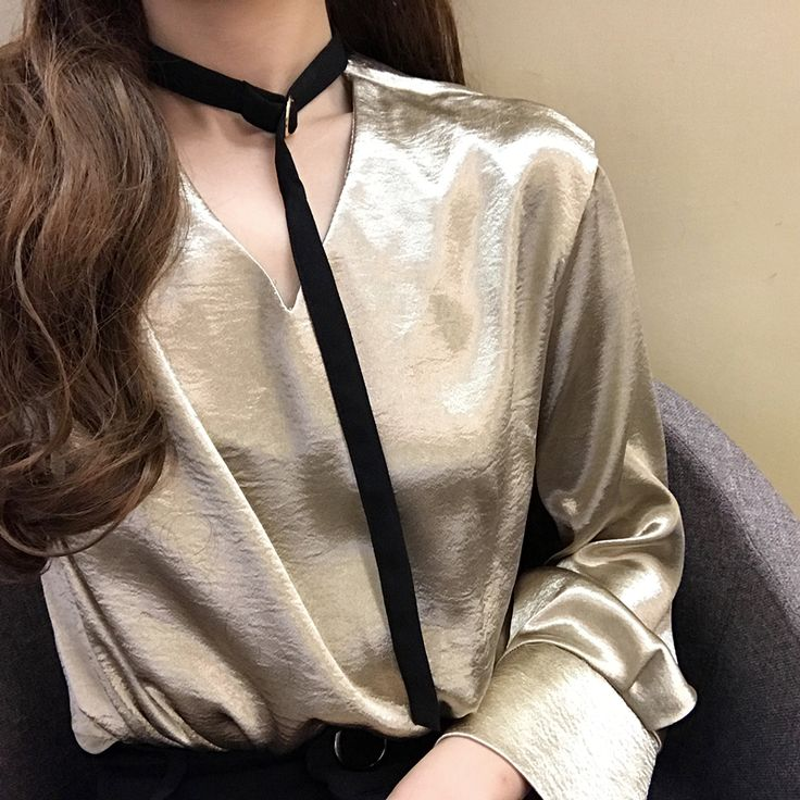 Spring Autumn Long Sleeve Shirt Womens Halter Blouses V-neck OL Style Office Wear Tunic Satin Blouse Elegant Women Tops Shirt #Satin blouses http://www.ku-ki-shop.com/shop/satin-blouses/spring-autumn-long-sleeve-shirt-womens-halter-blouses-v-neck-ol-style-office-wear-tunic-satin-blouse-elegant-women-tops-shirt/