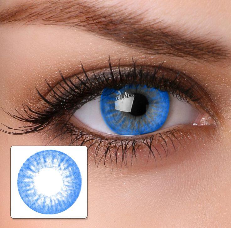 Colour Contact Lenses HA16 Electric Blue - Buy Online. Hairspray Ireland | Hair & Beauty Shop
