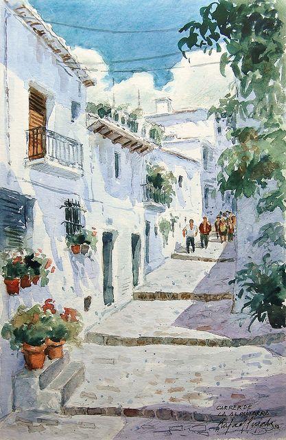 Rafael Pujals Poble andalús - La Alpujarra