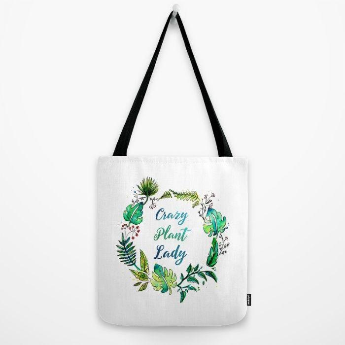 Crazy Plant Lady Tote Bag by Erika Biro | Society6