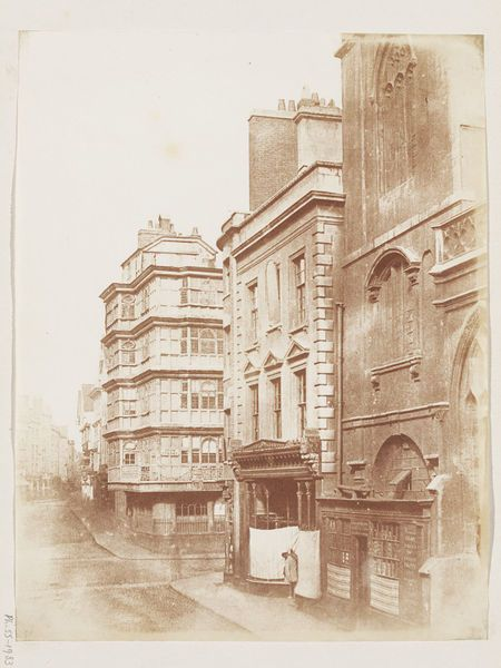 Corn Street, Bristol,1848. Salted paper print from calotype negative.