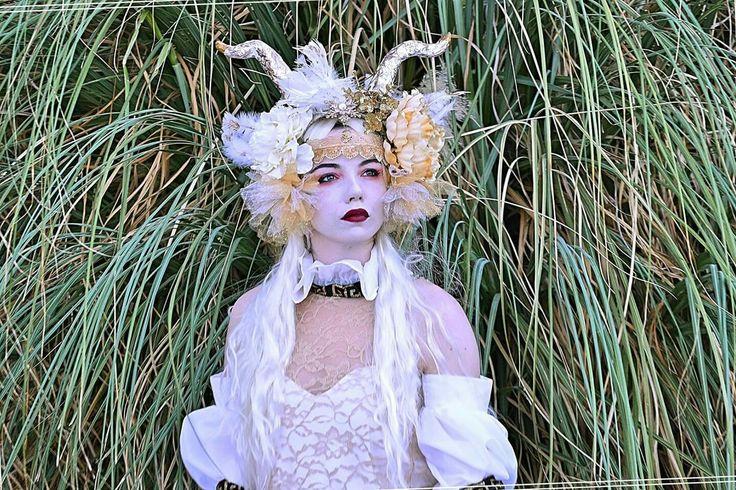 White Forest Goddess Headpiece