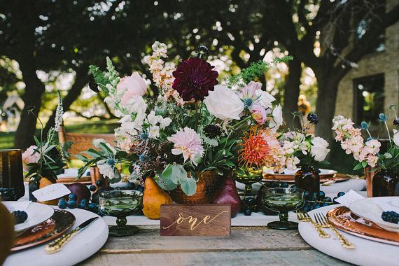 Limited Edition Wooden Table Numbers Perfect for a Rustic Wedding get them before they're gone!