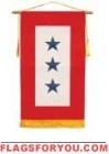 "8"" x 14"" US Made 3 Star Service Banner"