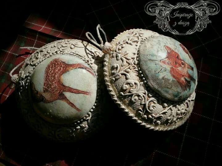 #decoupage #baubles