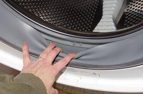 mosógép takarítás, gumis rész