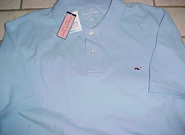 Vineyard Vines Martha's Classic Fit Whale Men Jake Blue Polo Shirt XL New NWT #VineyardVines #PoloRugby